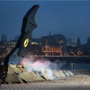 A Lego Batarang Lands At London's South Bank