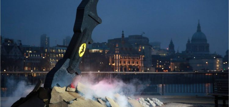 A Lego Batarang Lands At London's South Bank