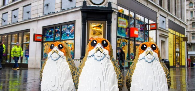 A Group Of LEGO Porgs Have Trekked Across London