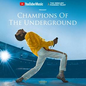 Champions of the Underground: YouTube Music to celebrate the legacy of Queen in the a unique Tube performance site in London on Wednesday 24th October