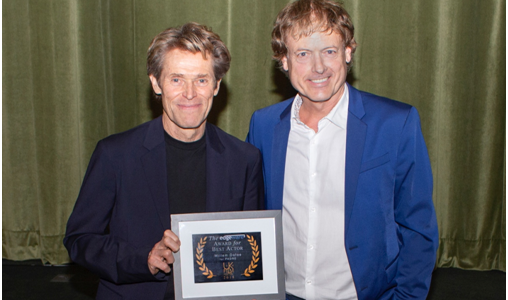 Willem Dafoe wins Edgeware Award for Best Actor at the 2018 UK Film Festival