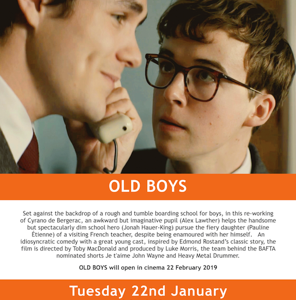 Toby MacDonald's OLD BOYS Starring Alex Lawther and Jonah Hauer-King To Be Released in Cinemas on 22 Feb